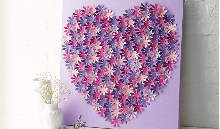 DIY-Blumen-Herz